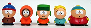 SOUTH PARK 5 Piece Figure Set Featuring Eric Cartman, Stan Marsh, Kyle Broflovski, Kenny McCormick and Butters Stotch, Figures Average 2.5