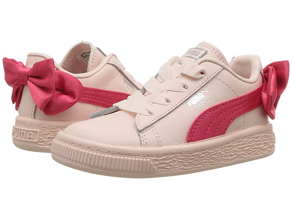Puma Kids Basket Bow AC INF (Toddler) (Paradise Pink) Girls Shoes
