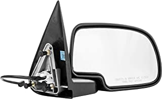 Passenger Side Mirror for Chevy Avalanche Chevy Silverado GMC Sierra 1500 2500 HD 3500 (1999 2000 2001 2002) Right Chrome Non-Heated Power Operated Folding Outside Rear View Replacement Door Mirror
