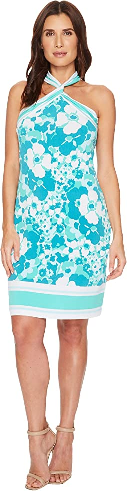 MICHAEL Michael Kors Spring Twist Neck Border Dress