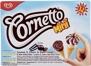 Cornetto Mini Cookies and Blackforest Ice Cream, 28ml - Frozen