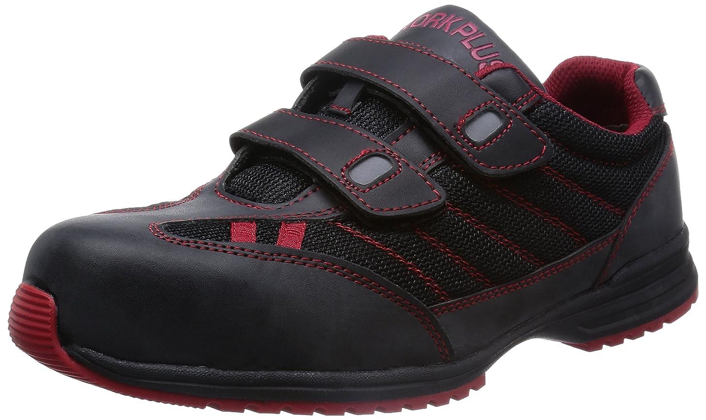 アラブ人散歩有彩色の安全作業靴 JSAA認定 耐滑 マジックタイプ プロスニーカー WPT115 メンズ
