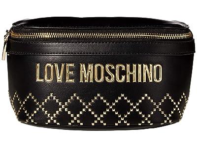 LOVE Moschino Studded Belt Bag (Black) Handbags