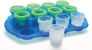 Ice Shots - Set of 12 Ice Mold Shot Glasses With Serving Tray - Just Freeze Pour and Serve Up Your Ice Cold Shots