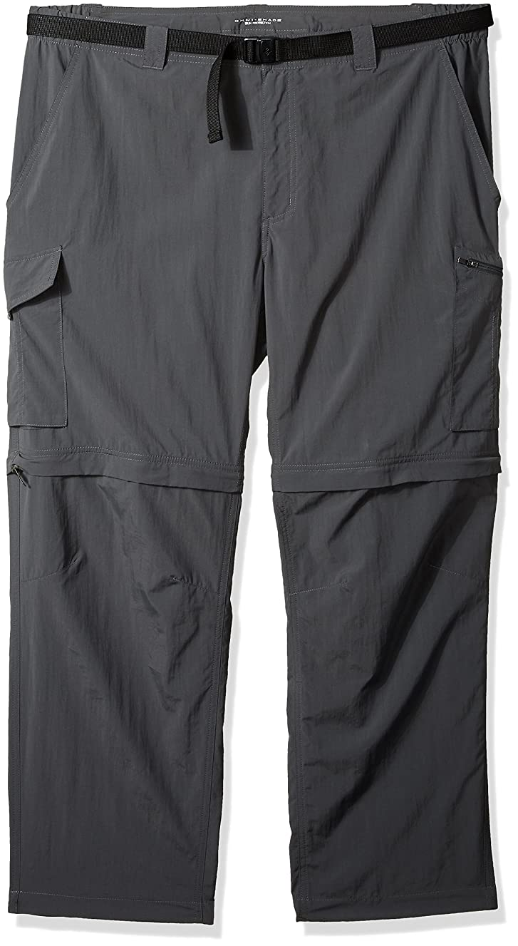 Columbia 1441675-028-Size 44x30 Men's Silver Ridge Big & Tall Convertible Pants, Grill, 44x30