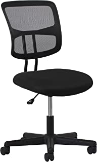 OFM Essentials Collection Swivel Mesh Back Armless Task Chair, in Black