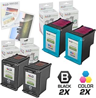 LD Remanufactured Ink Cartridge Replacements for HP 98 & HP 95 (2 Black, 2 Color, 4-Pack)