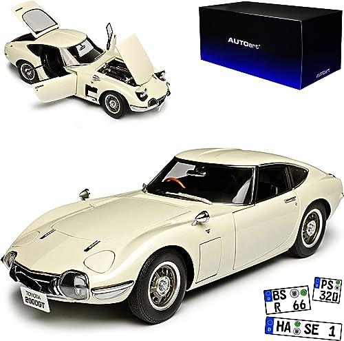 AUTOart Toyota 2000 GT Coupe Weißs 1965 1967-1970 78753 1 18 Modell Auto mit individiuellem Wunschkennzeichen