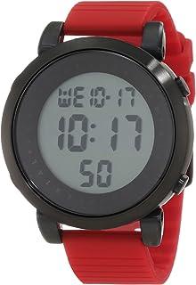 ساعة فيستال للرجال DDDS01 ديجيتال دوبلر ستانلس ستيل أسود مع حزام مطاطي