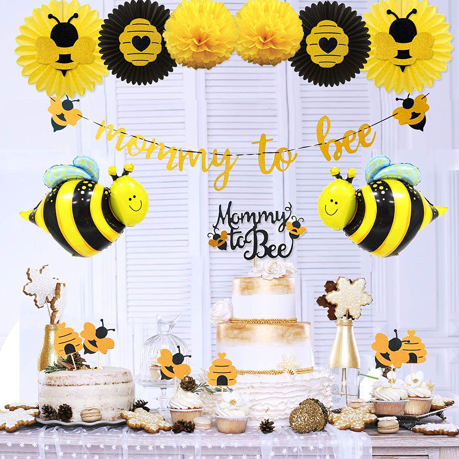 Fresno Mall Ranking TOP9 Mommy to Bee Baby Shower by Decorations Kit KeaParty?Bu Supplies