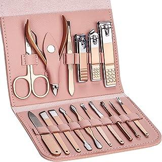 Kit de manicura para manicura y pedicura, kit de manicura profesional, herramienta de corte de uñas, tijeras y tijeras con...