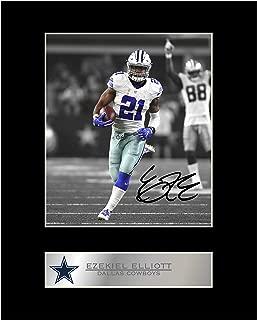 Ezekiel Elliott Signed Mounted Photo Display Dallas Cowboys