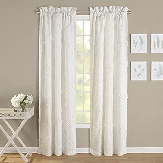Laura Ashley Adelina White Window Panel Pair,