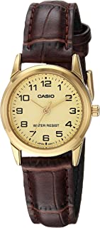 Casio Dress Watch Analog Display For Women Ltp-V001Gl-9B, Brown Band