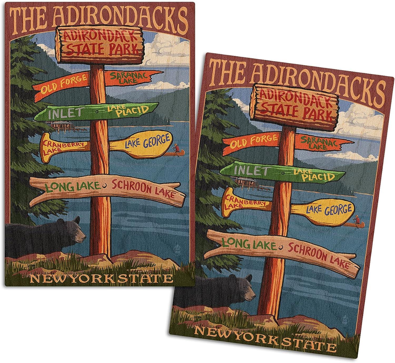 Lantern Press OFFicial store The Adirondacks New supreme York Destinations State Sign