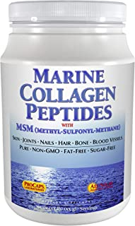 Andrew Lessman Marine Collagen Peptides Powder + MSM 60 Servings - Promotes Radiant Smooth Soft Skin, Comfortable Joints. 100% Pure. Highest Quality Super Soluble No Fishy Flavor No Additives Non-GMO