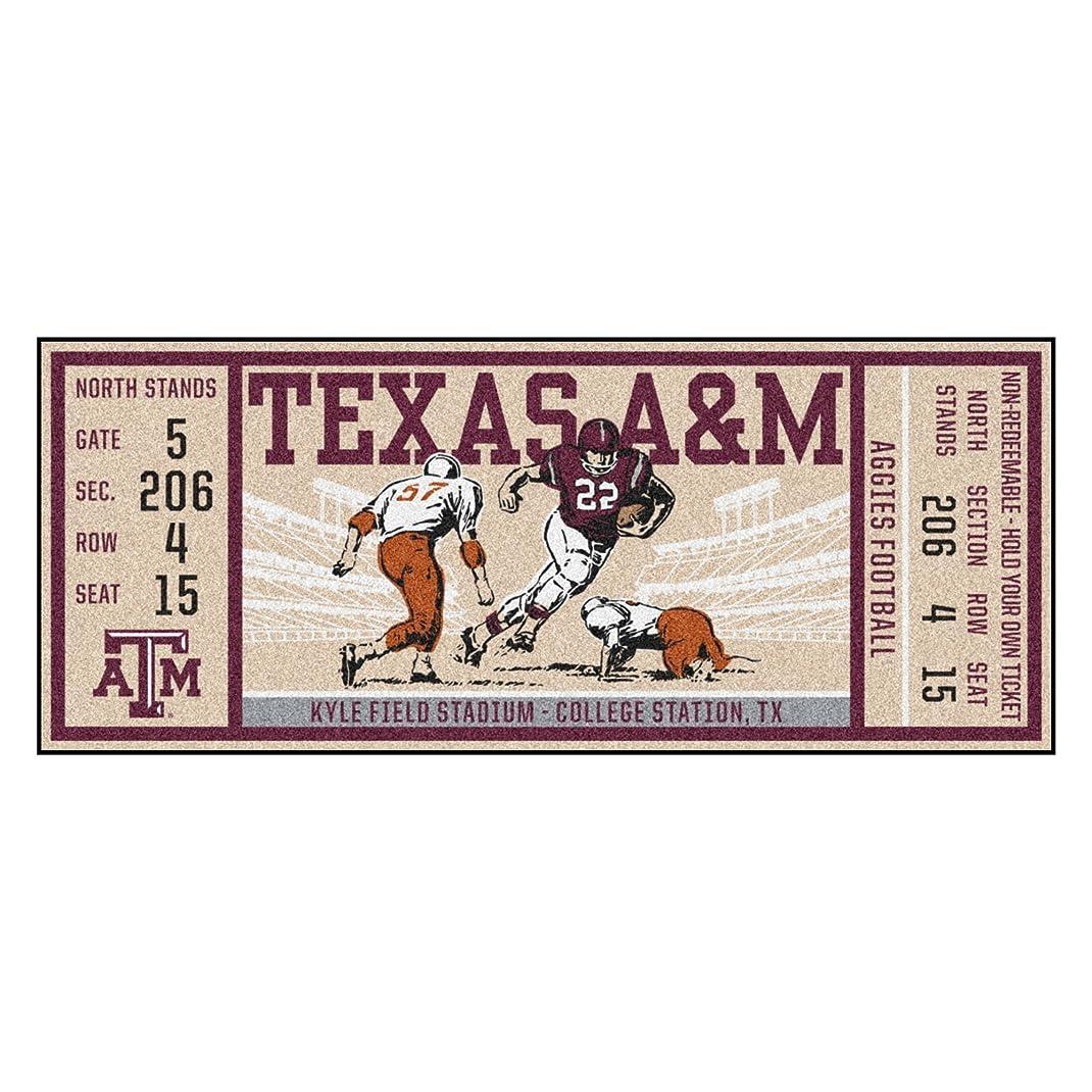 不愉快に不利等価Fanmats NCAA Texas A & M Aggies universityticketランナー、チームカラー、1サイズ