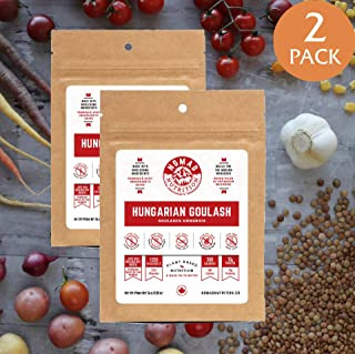 Hungarian Goulash - Plant Based, Protein Packed, Nutritious dehydrated Meal for Camping, Travel, Adventure on The go (2 oz) (2 pack)