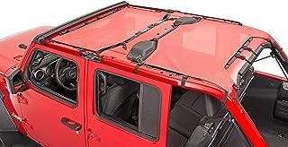 MasterTop 14201602 Red 2 Piece Bimini Plus Freedom Mesh Top for 2018-Current Jeep JL Wrangler