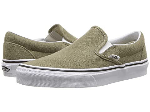 Classic Slip-On™, (Cotton Hemp) Dusky Green/True White