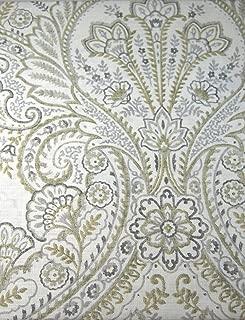 Set of 4 Tahari Home Dinner Napkins Floral Paisley Mult Color on White- 20