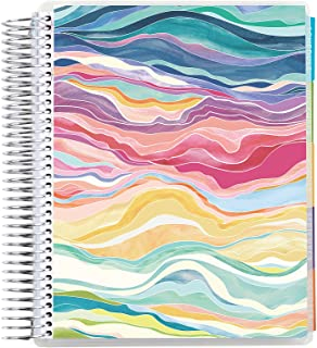 """7"""" x 9"""" Coiled 12 Month Academic Planner ( August 2021 - July 2022 ) - Layers Colorful. 12 Month Dated Calendar w/ Lined P..."""