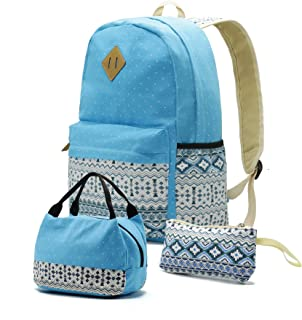 Teenager Teen Girl School Backpack Lunch Pencil Bookbag Set of 3