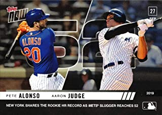 2019 Topps Now #906 Pete Alonso/Aaron Judge Baseball Card - Alonso Ties Aaron Judge for Rookie Home Run Record - Only 3018 made!