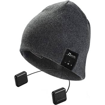 Bluetooth Beanie Hat, Topple Bluetooth V4.1 Wireless Headphone Beanie Hat with HD Stereo Earphone Speaker &Mic,Unisex Washable for Men Women Winter Outdoor Fitness -Dark Grey