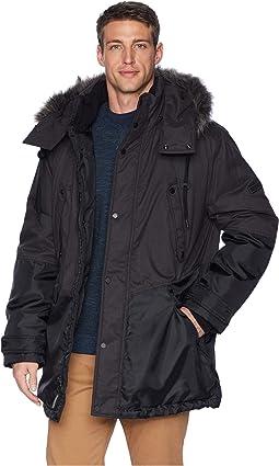 Oxford Combo Parka w/ Faux Fur Hood