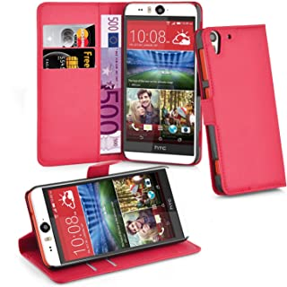 Cadorabo Book Case Works with HTC Desire Eye in Candy Apple RED – with Magnetic Closure, Stand Function and Card Slot – Wallet Etui Cover Pouch PU Leather Flip