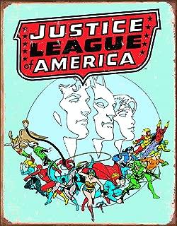 Desperate Enterprises Justice League Retro Tin Sign, 12.5