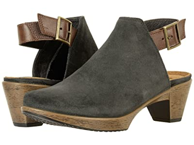 Naot Upgrade (Oily Midnight Suede/Pecan Brown Leather) Women