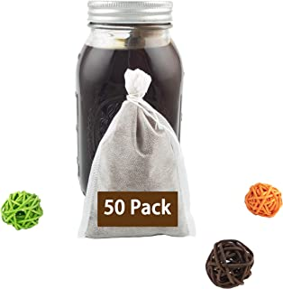 50 Pack - Disposable Cold Brew Coffee Filter, Ultra Fine Mesh, French Press Coffee Filters, Tea Filters, Iced Tea Maker