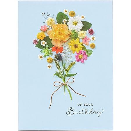 Biglietto di compleanno per lei, biglietto di compleanno per donna, con motivo floreale