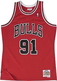 Mitchell & Ness Dennis Rodman Chicago Bulls NBA Throwback HWC Jersey - Red