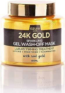24K Gold Luxury Sparkling Gel Wash Off Firming Mask – Removes Blackheads, Dirt & Oils   Firms & Rejuvenates   Wrinkle, Fine Line & Acne Scar Reducing – 150ml