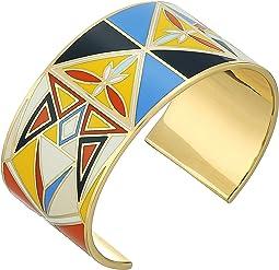 Tory Burch Kaleidoscope Enamel Cuff Bracelet