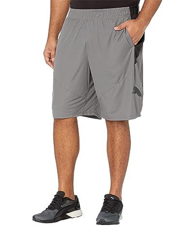 PUMA Big Tall Cat Shorts (Castlerock/Puma Black) Men