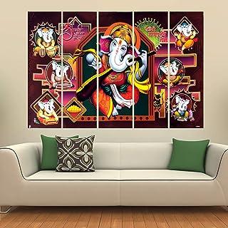 Kyara arts Big Size Multiple Frames, Beautiful Ganesha Wall Painting for Living Room, Bedroom, Office, Hotels, Drawing Roo...