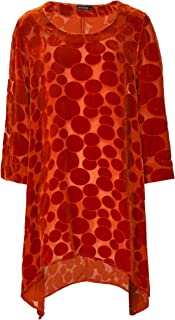 Grizas Women's Velvet Spot Tunic Orange