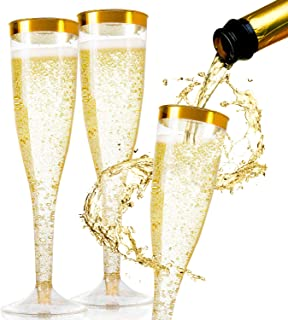 Best gold glass champagne flutes Reviews