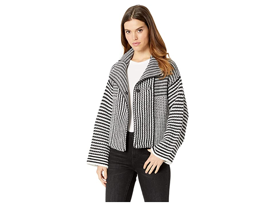 Splendid Onyx Sweater Jacket (Black/Natural) Women