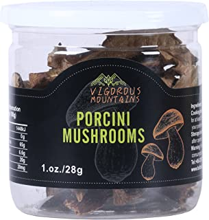 VIGOROUS MOUNTAINS Wild Dried Porcini Mushrooms 1 OZ Boletus Edulis 1 Ounce