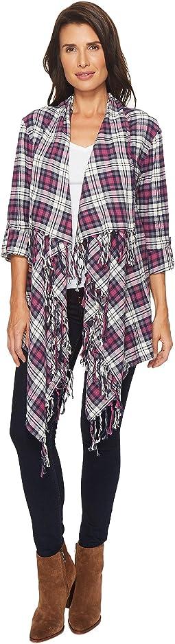 Thistle Flannel Fringe Cardigan