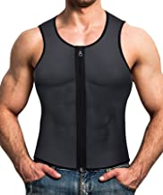 Men Waist Trainer Vest Hot Neoprene Corset Body Shaper Zipper Sauna Tank Top Workout Shirt by Wonderience