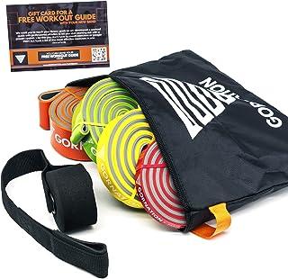 GORNATION® Tweelaagse premium weerstandsbanden met videocursus en tas - De fitnessband met praktisch weerstandsniveau in K...