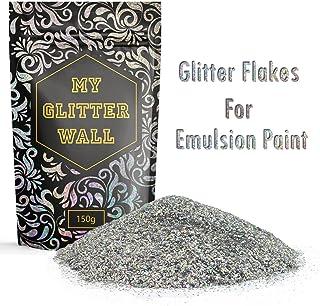 150&nbspg silbener Glitzer f&uumlr Dispersionsfarbe, glitzernde Wanddekoration, perfekt f&uumlr Innen und Au&szligen