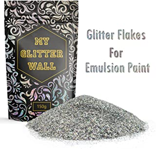 Silver AB 150G My Glitter Wall Glitter for emulsion paint glittery wall decorations perfect for indoors and outdoors
