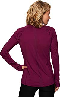 RBX Active Women's Long Sleeve Ventilated Mesh Lightweight Running Workout Crewneck T-Shirt